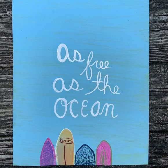 Surf painted poster